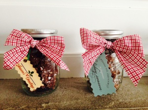 I used mason jars for my bark. They look pretty and are inexpensive.